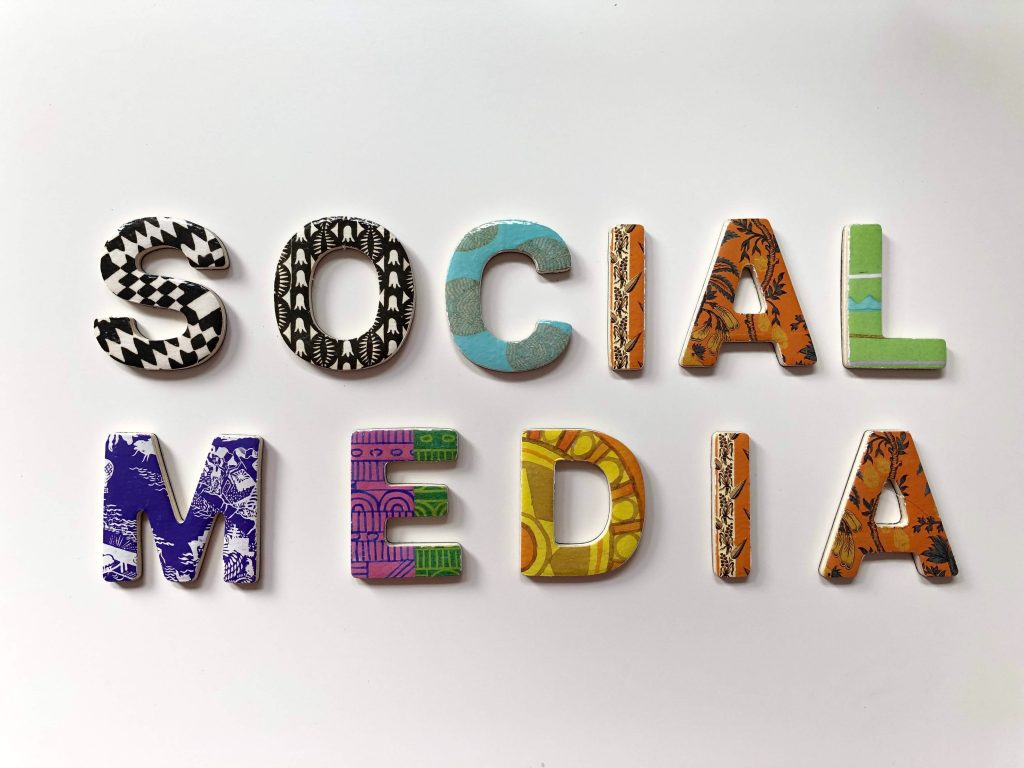 A photo of letters forming Social Media
