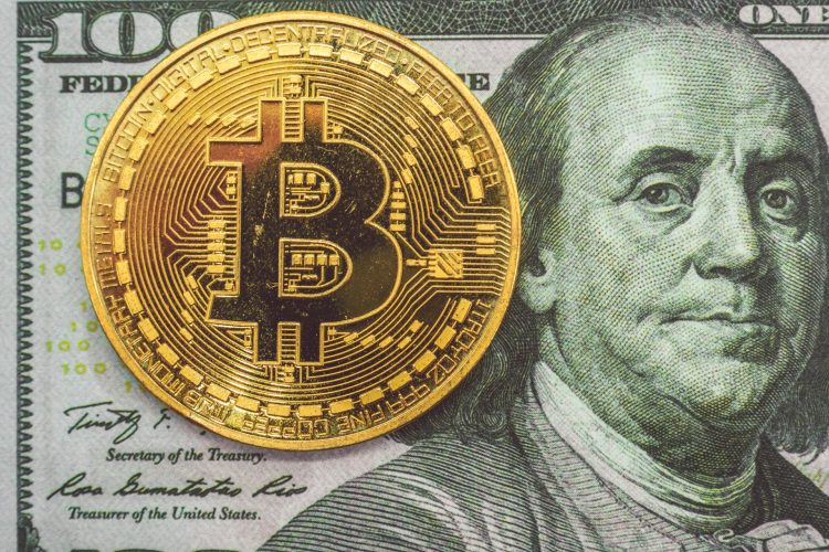Cryptocurrency and dollars money