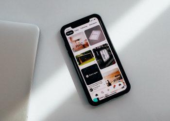 Pinterest running on an iPhone