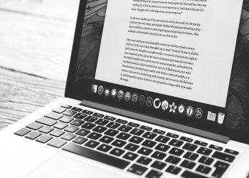 Writing an effective blog post on a laptop