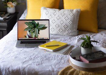 A freelancer's laptop